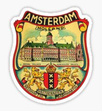 Amsterdam Vintage Travel Decal Sticker