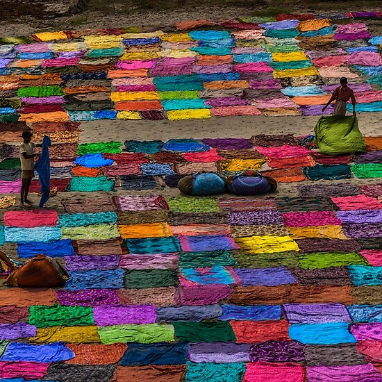Laundry Day India - Travel fine art Photographic Print by Glen Allison