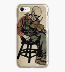 The Death Fiddler And His Sparrow Companion iPhone Case/Skin