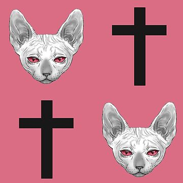 Cats and Crosses Pink by Roksva