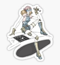 Mechanic Girl Sticker