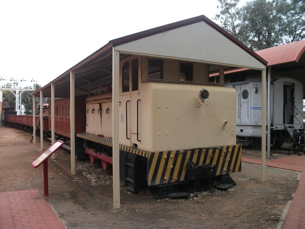 Broken Hill Sulphide St StnTrain Museum, train by Heather Dart