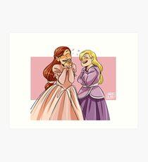 Brietta and Annika Art Print