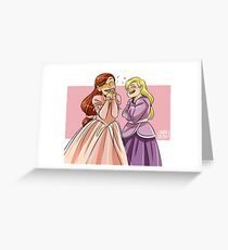 Brietta and Annika Greeting Card
