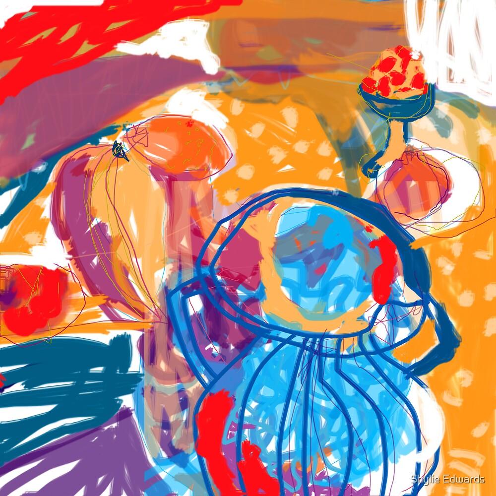 blue vase by Shylie Edwards