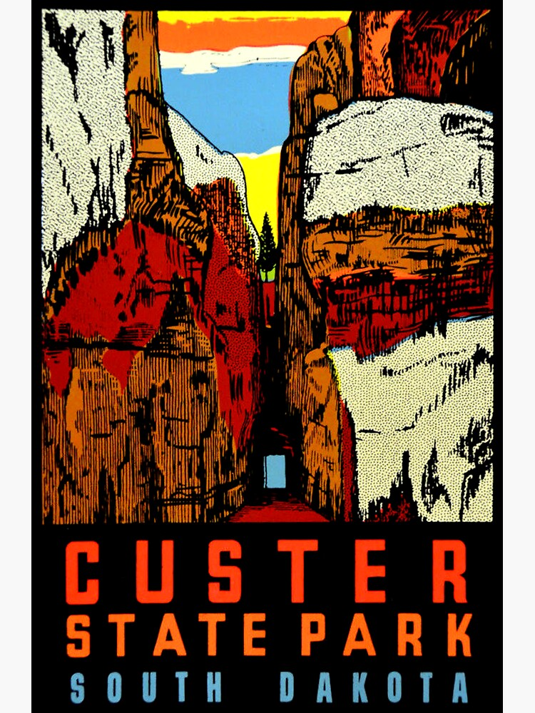 Custer State Park South Dakota Vintage Travel Decal by hilda74