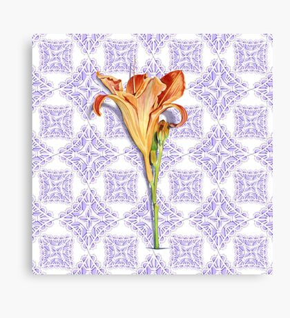 Daylily Lace Canvas Print