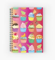 Cupcakes Galore Delicious Yummy Sugary Sweet Baked Treats Spiral Notebook