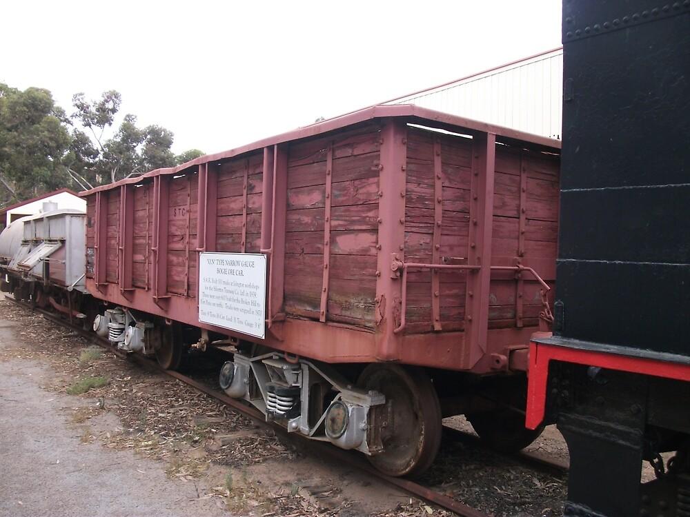 Broken Hill Sulphide St StnTrain Museum, Bogie Ore Car by Heather Dart