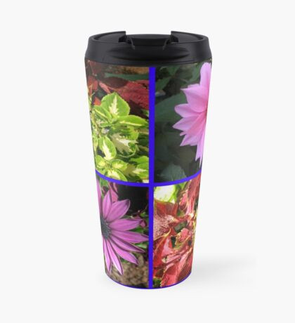 Summer Flowers and Plants Collage Thermosbecher