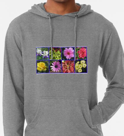 Summer Flowers and Plants Collage Leichter Hoodie