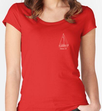dana 24 white Women's Fitted Scoop T-Shirt