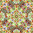Circus Pastel Mandala by PatriciaSheaArt