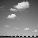 running with clouds by Victor Bezrukov