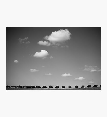 running with clouds Photographic Print