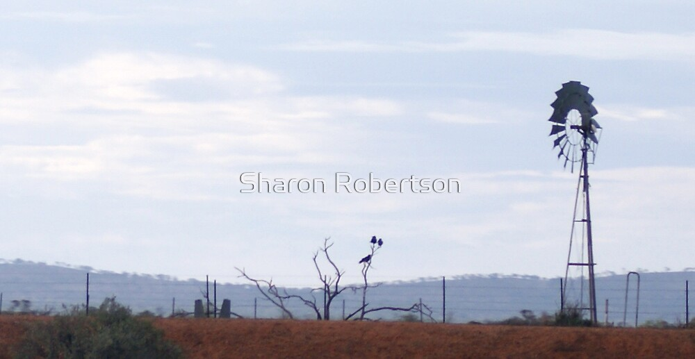 Windmill Outback by Sharon Robertson
