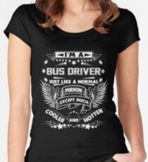 Bus Driver Women's Fitted Scoop T-Shirt