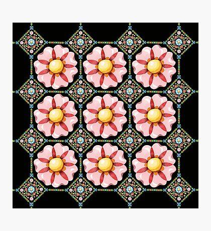 Pink Daisy Boho Photographic Print
