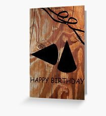 Happy Birthday Wood Grain Design Greeting Card