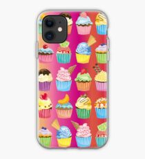 Cupcakes Galore Delicious Yummy Sugary Sweet Baked Treats iPhone Case