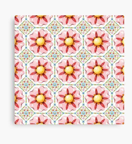 Pink Flower Boho Chic Canvas Print