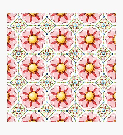 Pink Flower Boho Chic Photographic Print