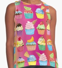 Cupcakes Galore Delicious Yummy Sugary Sweet Baked Treats Contrast Tank