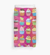Cupcakes Galore Delicious Yummy Sugary Sweet Baked Treats Duvet Cover