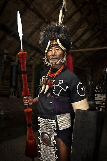 Nagaland Tribal Headhunter - Travel fine art Photographic Print by Glen Allison
