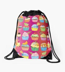 Cupcakes Galore Delicious Yummy Sugary Sweet Baked Treats Drawstring Bag