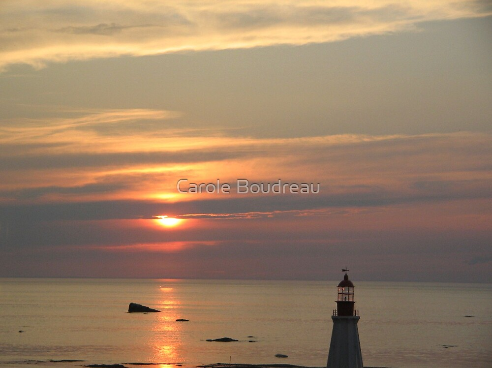 Sunset in Gaspesie Quebec 2006 by Carole Boudreau