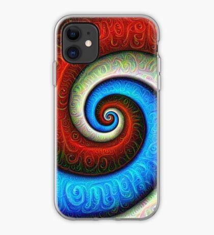 #DeepDream Color Fibonacci Visual Areas iPhone Case