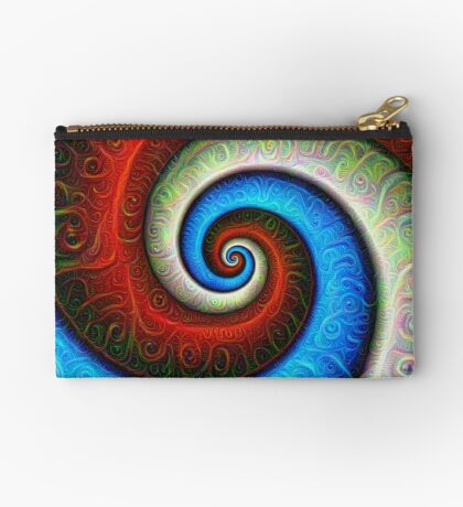 #DeepDream Color Fibonacci Visual Areas Zipper Pouch