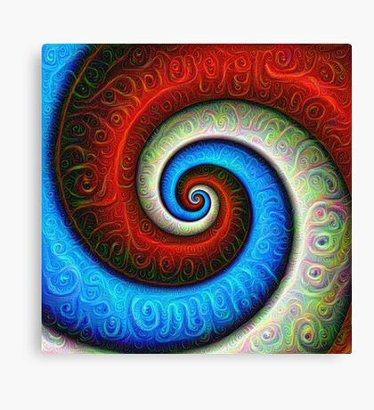 #DeepDream Color Fibonacci Visual Areas Canvas Print