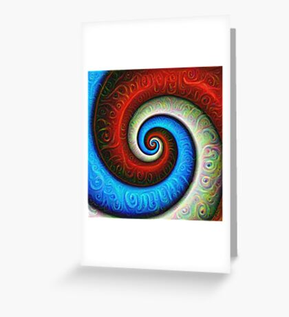 #DeepDream Color Fibonacci Visual Areas Greeting Card
