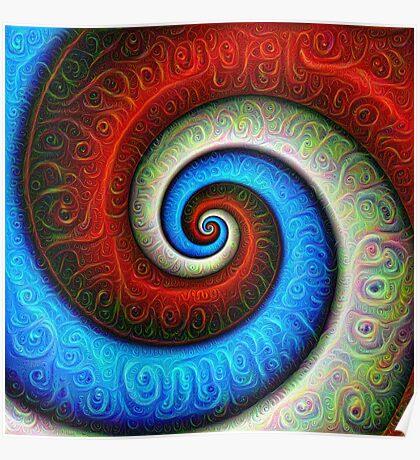#DeepDream Color Fibonacci Visual Areas Poster