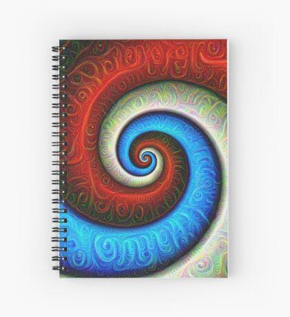 #DeepDream Color Fibonacci Visual Areas Spiral Notebook