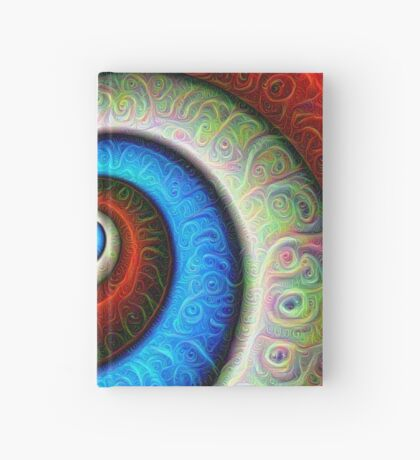 #DeepDream Color Fibonacci Visual Areas Hardcover Journal