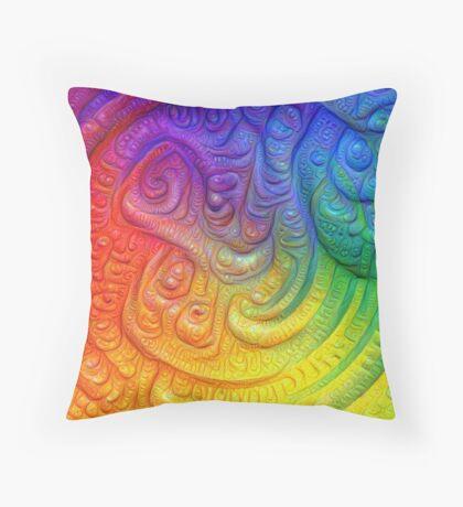 Color Foam #DeepDream Throw Pillow
