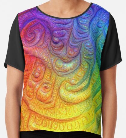 Color Foam #DeepDream Chiffon Top