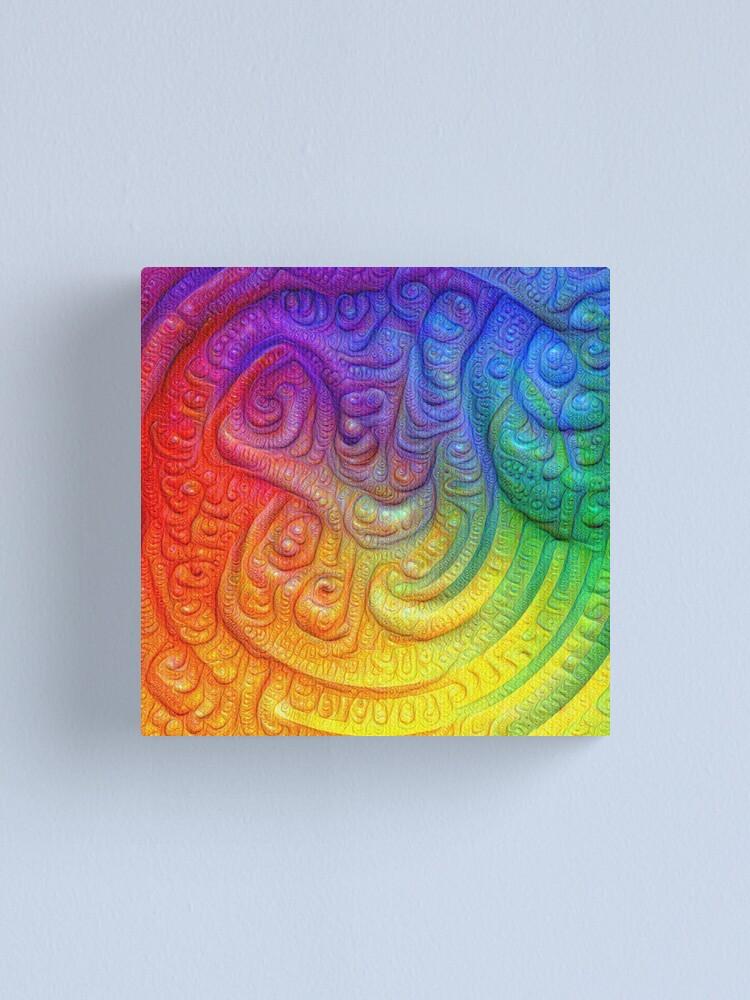 Alternate view of Color Foam #DeepDream Canvas Print