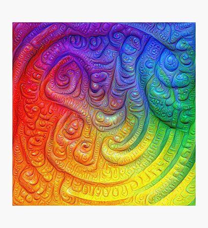 Color Foam #DeepDream Photographic Print