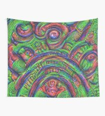 Green #DeepDream Wall Tapestry