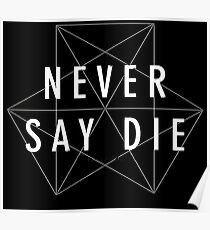 dubstep never say die Poster
