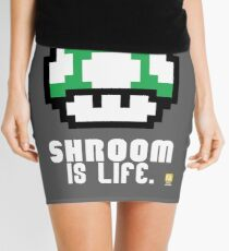 Super Mario Bros Mushroom is Life (1 Up) Mini Skirt