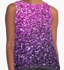 Beautiful Purple Pink Ombre glitter sparkles  Contrast Tank