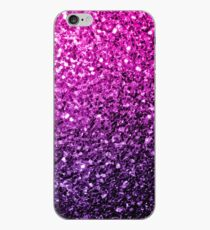Beautiful Purple Pink Ombre glitter sparkles  iPhone Case
