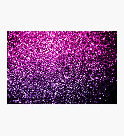 Beautiful Purple Pink Ombre glitter sparkles  Photographic Print