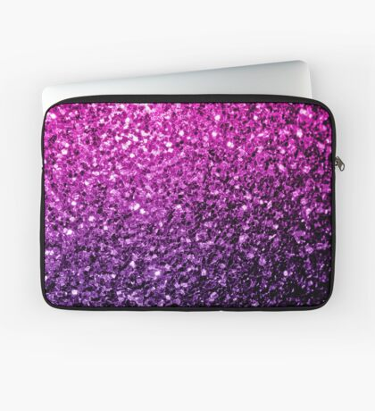 Beautiful Purple Pink Ombre glitter sparkles  Laptop Sleeve