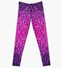 Beautiful Purple Pink Ombre glitter sparkles  Leggings